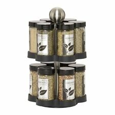 Kamenstein Madison 12-Jar Revolving  Spice Rack with Free Spice Refills for 5...