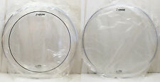 "NEW Set SONOR Logo REMO Made 16"" CLEAR Floor TOM DRUM HEADS(Pinstripe) FREE SHIP"