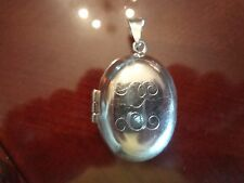 LARGE STERLING SILVER MEXICO LOCKET WITH INITIAL--925--