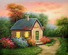 """8x10""""(20x26cm) 100% hand painted oil flat ,50% OFF,Landscape / Villa /Cottage"""