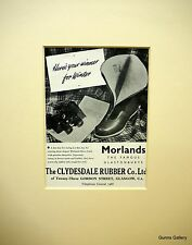 Vintage Advertisement mounted ready to frame Morlands Vintage Boots