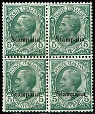 Colonie Italiane Egeo 1912 Stampalia n. 2 ** quartina (m2806)