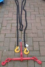 2 X 6 METRES 8mm CHAIN YELLOW HOOKS WITH 2 X 8mm LOADING BINDER