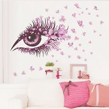 Eye Flower Butterfly Sticker living Wall Room Decor Decals Removable Mural New