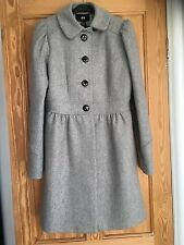 H&M Light Grey Wool Coat. Wedding Outfit. Size 8 S