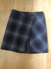 GREAT MARKS AND SPENCER WRAP EFFECT TARTAN SKIRT UK SIZE 8 BARELY WORN GREAT CON