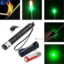 Green Laser Pointer Pen G301 532nm Lazer Visible Beam+18650 Battery+Charger LN