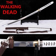 Handmade Japanese Walking Dead Sword---Michonne's Katana Zombie Killer Sharp