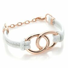 "ROBERTO BY RFM ""BIKINI LINE"" LEATHER-LIKE 7"" CORD BRACELET HSN $49"