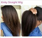 Brazilian kinky straight full/front lace wig Human Hair baby hair bleached knots