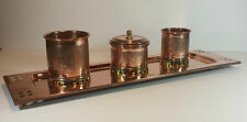 SPLENDID SECESSIONIST COPPER SMOKERS COMPENDIUM & TRAY Circa 1915