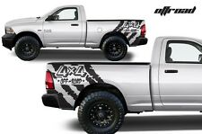 Vinyl Decal 4X4 Off Road Wrap Kit for Dodge Ram 09-14 1500/2500/3500 Matte Black