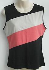 Millers Stripe BLACK Sleeveless TOP As New Ladies 10