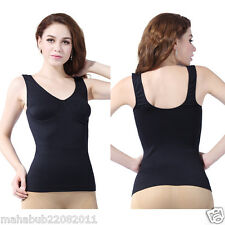 Women's Black Slimming Bust up Body Shaper Tummy Fat Control Camisole Tank Top