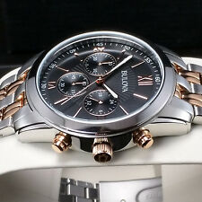 BULOVA MENS TWO TONE ROSE GOLD CHRONOGRAPH WATCH 98A153 NEW RRP £249