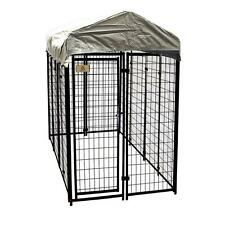 KennelMaster 4 ft. x 8 ft. x 6 ft. Welded Wire Dog Fence Kennel Kit Pet Supplies