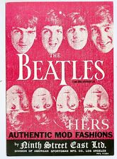 The Beatles, 1966 Clothing Promotion Card- Authentic Mod Fashions 9th St. E