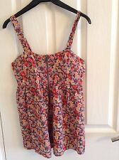 Topshop Flower Top With Front Zip, Size 8