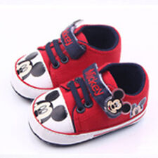 Toddler Baby Boy Mickey Mouse Sneaker Girls Non-slip Crib Shoes Canvas Trainers
