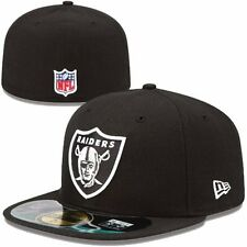 Oakland Raiders NFL Football cap new era 59 fifty size 7 1/2 authentic on field