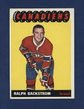 1965-66 Topps RALPH BACKSTROM #73 Exmt/Nrmt MONTREAL CANADIENS !!
