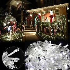 White 33ft 10m 100 LED Fairy String Light Indoor Outdoor Wedding Xmas Party Lamp