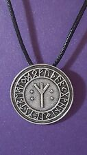 Rune Algiz Talisman,Banishment .Opposition Protection Charm Pendant Necklace  a1
