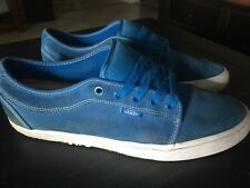VANS Chukka Low Skateboard Shoes US 12 Blue Suede White VN-0FJM4AA