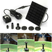 Solar Power Fountain Water Pump Panel Kit Pool Garden Pond Submersible Watering