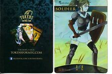 Soldier Token FOIL - Version 2 | NM | altered Art Promo - Tokens for MTG | Magic