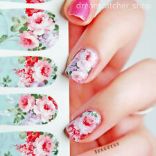 12pcs Flower Nail Art Water Transfer Stickers Wraps Foils Decals Tips Manicure