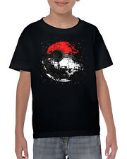 Pokeball Deathstar Parody Inspired Pokemon and Star wars Kids Children T-Shirt