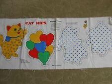 VTG Cat Nips Fabric Panel Bright For Baby's Room