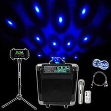 """NYC Acoustics 6.5"""""""" Karaoke Machine/System 4 ipad/iphone/Android/Tablet+Lights !"""
