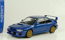 1998 subaru impreza 22b upgraded versión blue metalizado azul 1:18 Autoart