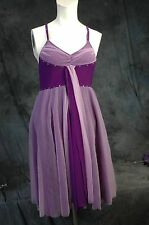 For Halloween Art Stone Adult Medium Purple Layered Ballet Costume all in one