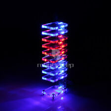 New DIY Dream Crystal Electronic Column Light Cube LED Music Voice Spectrum Kit