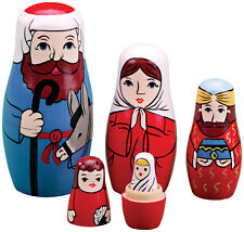 Nativity Nesting Dolls Crafted in Solid Wood Set of 5 Christmas Holiday Gift 2