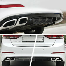 Rear Bumper Diffuser Dual Type Glossy Black Chrome For HYUNDAI 2017 Elantra AD