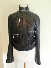 Dolce & Gabbana Classic Leather Biker Jacket IT40
