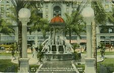 San Diego, CA The L.J. Wilde Electric Fountain in Plaza Park 1916