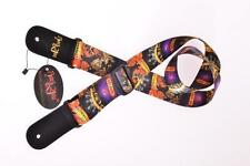 RockYou BLACK GUITAR STRAP adjustable GOTH HEAVY METAL acoustic electric bass