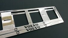 2X VOLVO EUROPEAN LICENSE NUMBER PLATE SURROUND FRAME HOLDER.