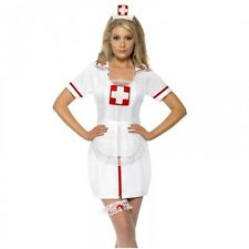 Ladies Naughty Nurse Fancy Dress Costume SET Sexy Uniform Hen Night Outfit KIT