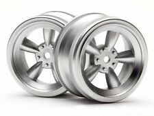 HPI RACING 3815 VINTAGE 5 SPOKE WHEEL 26MM MATTE CHROME(0MM OFFSET) NEW!