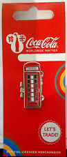LONDON 2012 OLYMPICS COCA COLA WELCOME TO THE GAMES PIN FRANCE TELEPHONE BOX