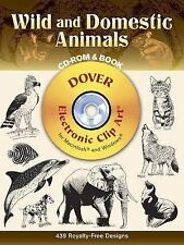 Dover Electronic Clip Art: Wild and Domestic Animals by Dover Staff (2002, Paper