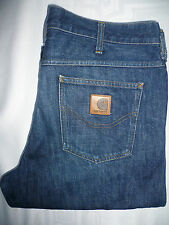CARHARTT WESTERN PANT JEANS MENS STRAIGHT LEG W36 L32 BLUE LEVF040