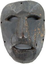 cLATE 1800s MIDDLE HILLS AREA HIMALAYAN CARVED WOODEN MASK, VERY IMPRESSIVE! #2