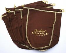 "(x 5) Crown Royal Maple Finished ""Happy Holidays"" Christmas Promo Felt Bags Lot"